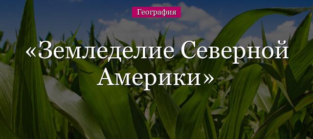 Сельское хозяйство сша кратко
